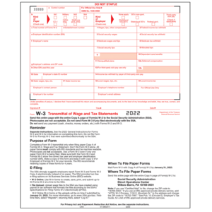 W-3 Forms